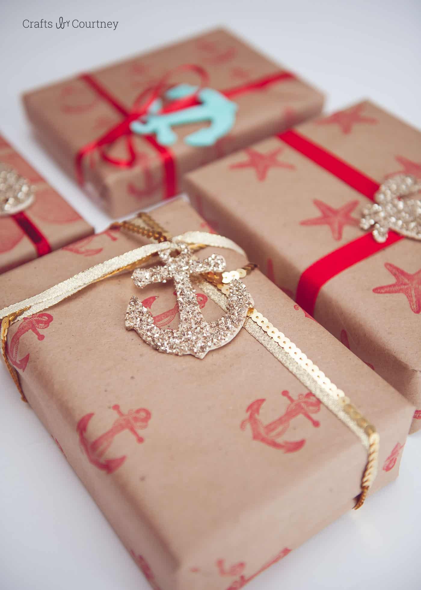 How to make nautical gift wrap