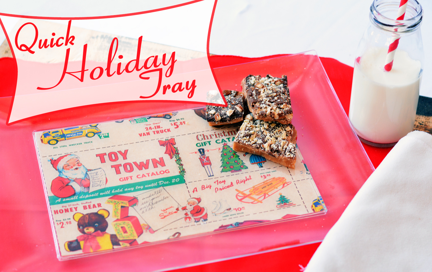 Decorate a Christmas Tray (Great for Last Minute!)