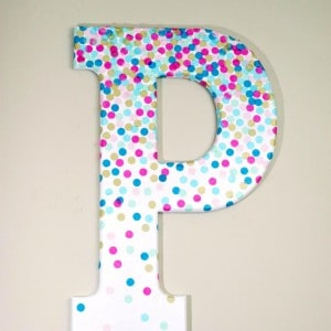 Confetti decorative letters for wall dec...