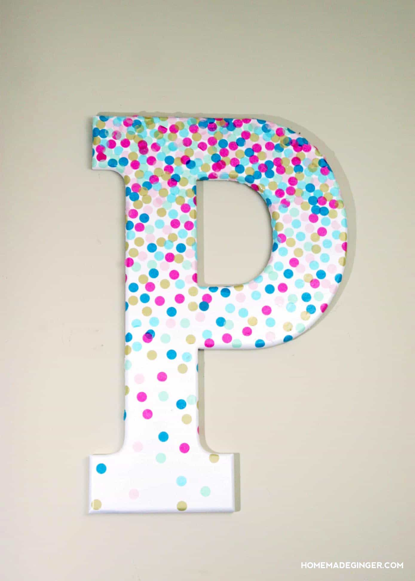 Decorated Letters For First Birthday