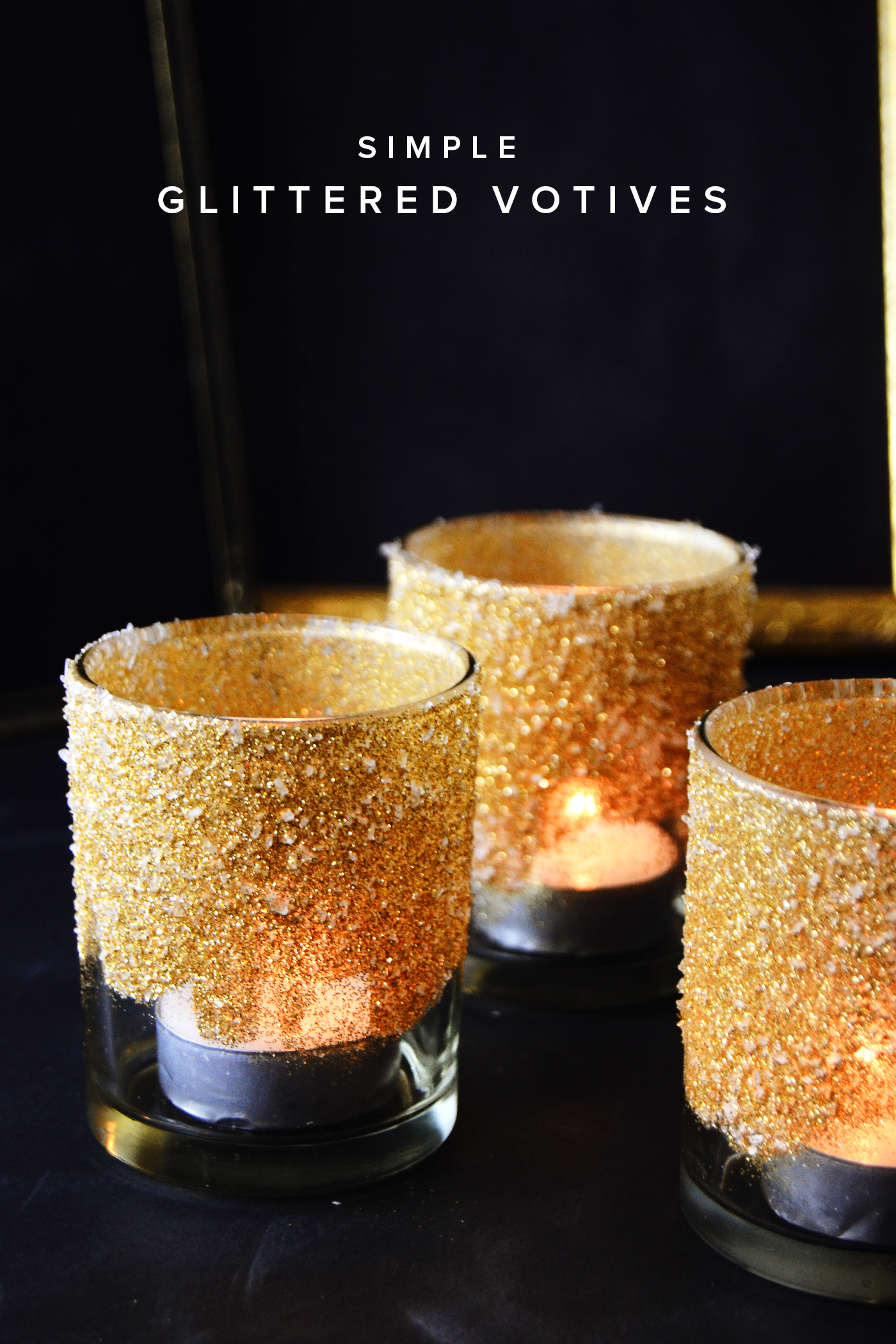 Gold Votive Candle Holders with Bling