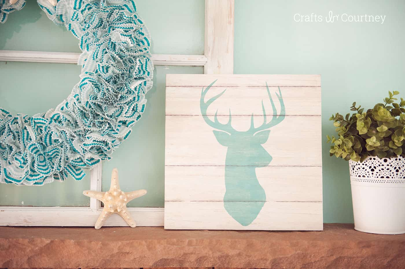 Best Use cool scrapbook paper and cut pieces of wood to make fabulous DIY wall art in