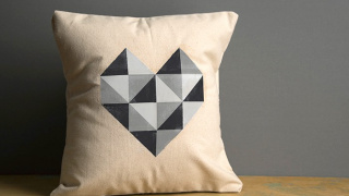 Geometric Heart Valentine's Day Pillow
