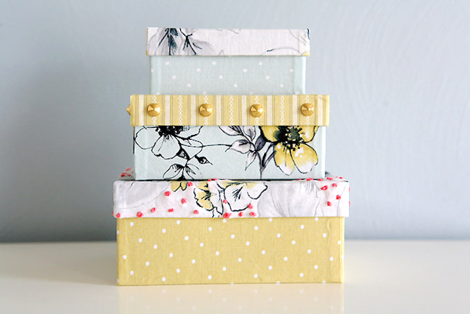 Makeover boxes with Mod Podge