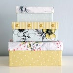 Mod Podge fabric covered boxes