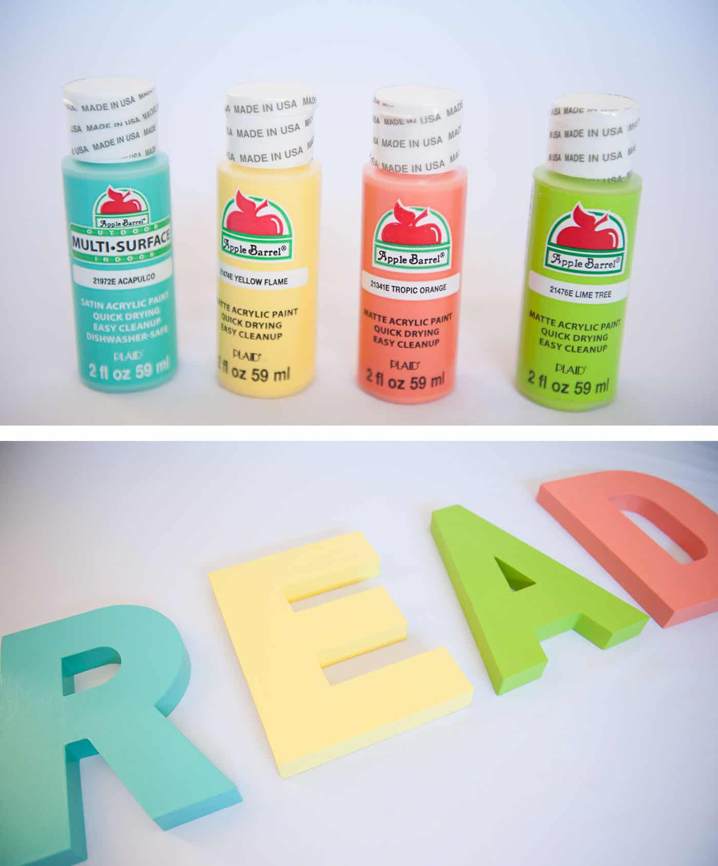 DIY READ Letters for a Book Nook