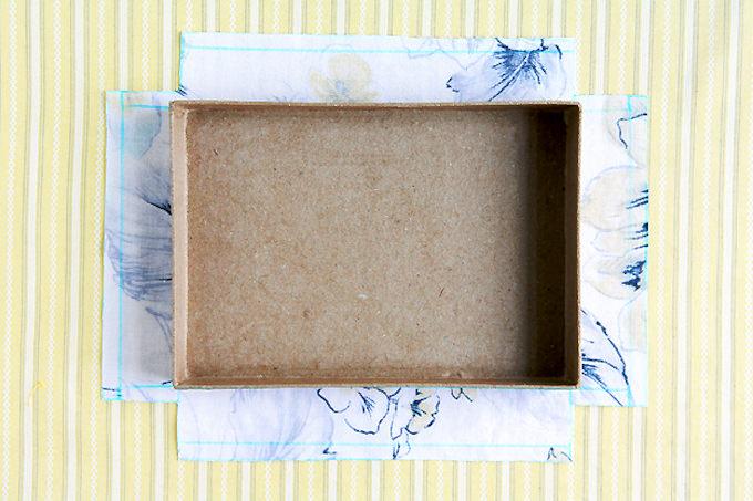 Mod Podge fabric to cardboard