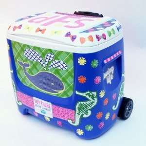 How to decorate a cooler with Mod Podge