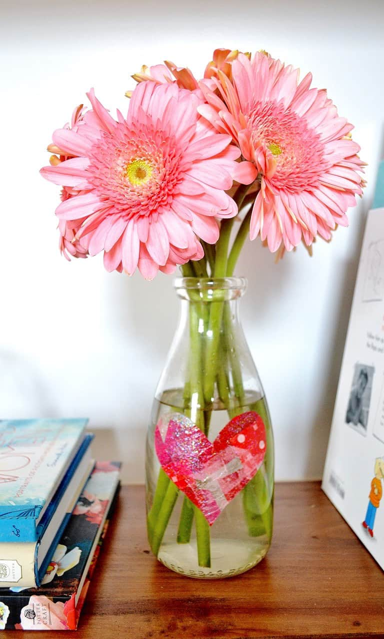 Simple Tissue Paper Heart Vase Mod Podge Rocks