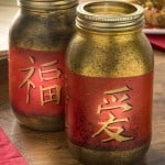 Chinese New Year craft: mason jar lanterns