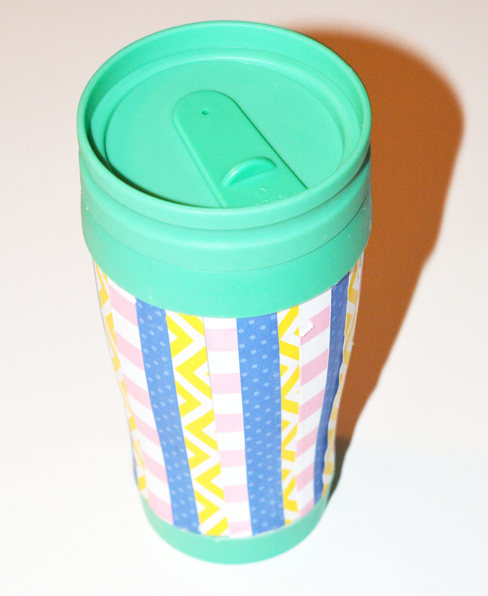 Finished decorated travel mug