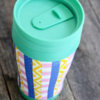 Scrappy Striped DIY Travel Mug