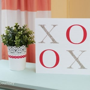 Valentines craft – simple XOXO sig...