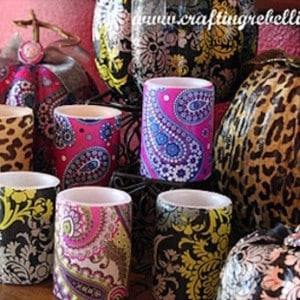 Inspired decoupage candles