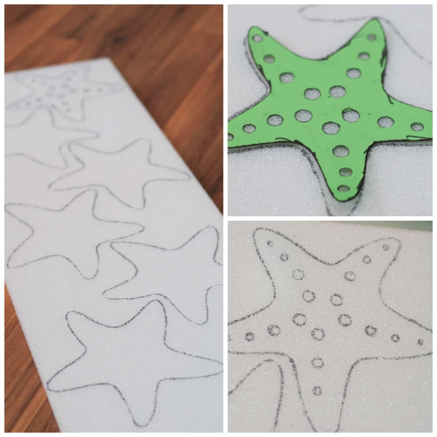 DIY Styrofoam Starfish Craft