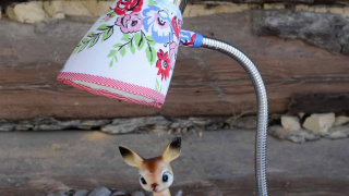 Revamp a Clip Lamp with Scrap Fabric