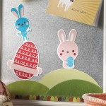 Learn how to make this DIY Easter magnet board that you can change out with the seasons - use it all year round. It's easy to do!