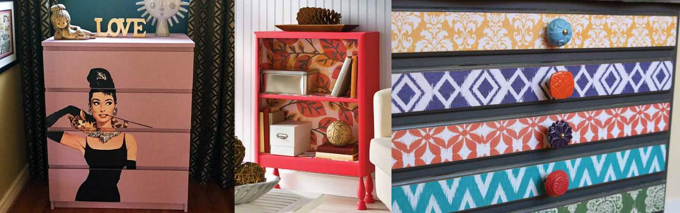 Furniture Mod Podge projects