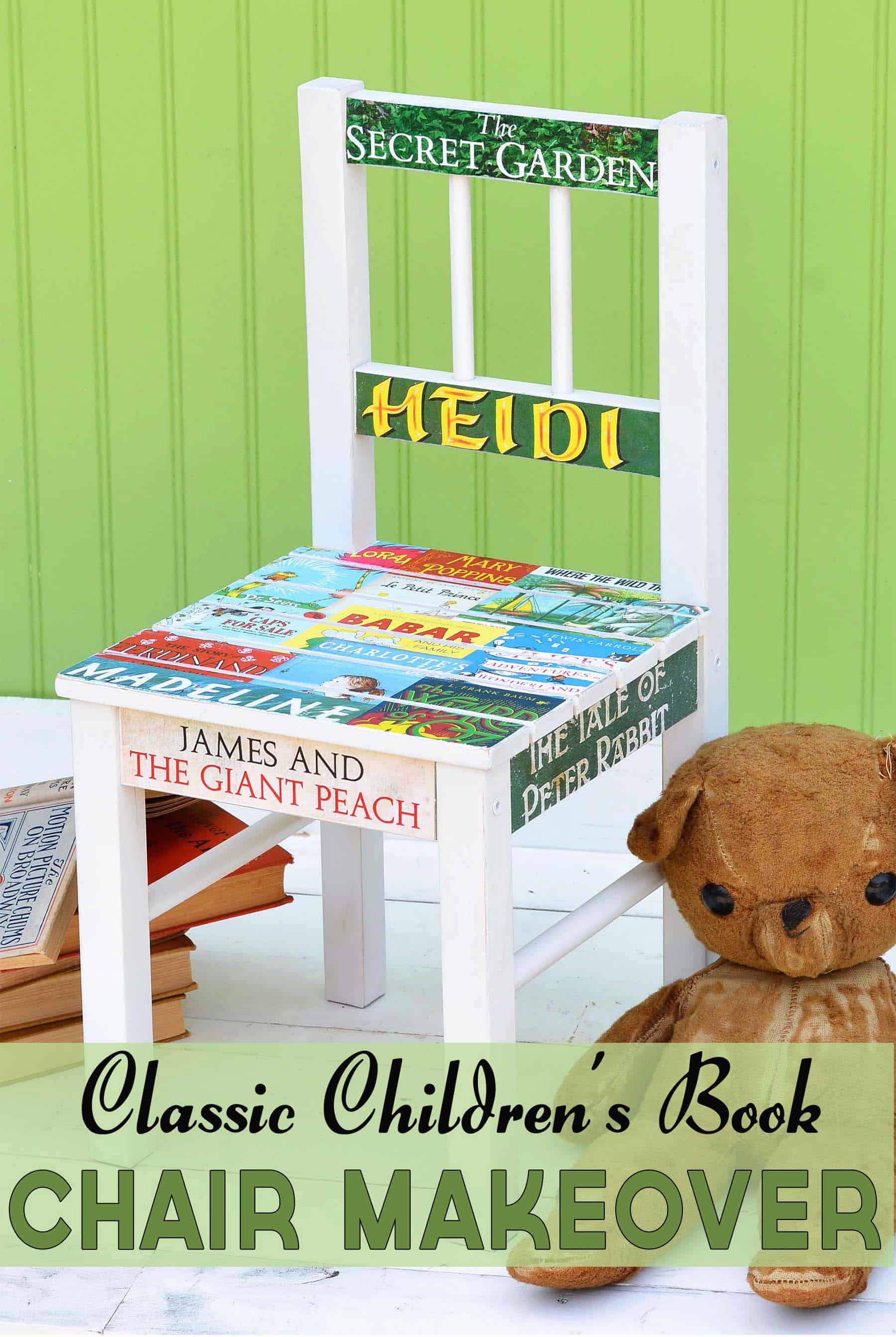 How to Decoupage a Wood Chair for a Book Lover