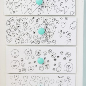 Child's Art Dresser Makeover