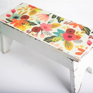 DIY step stool with Mod Podge