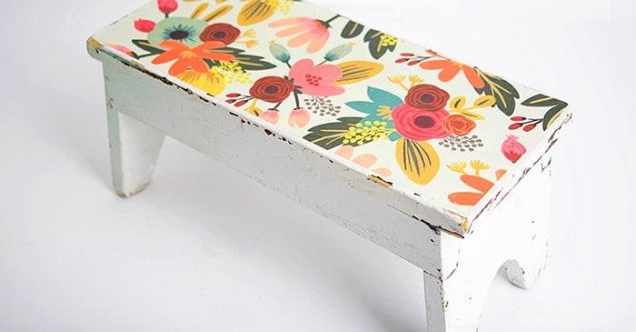 DIY step stool with Mod Podge