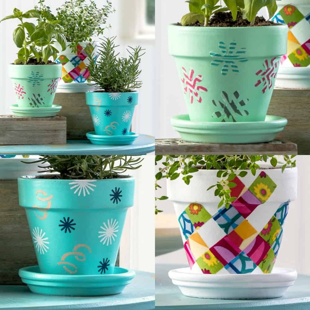 Three Unique Flower Pot Decoration Ideas - Mod Podge Rocks