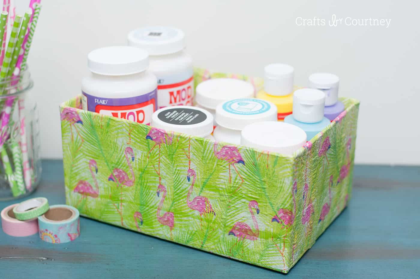 How to Mod Podge a Box with Napkins