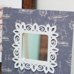 Nautical IKEA frame makeover