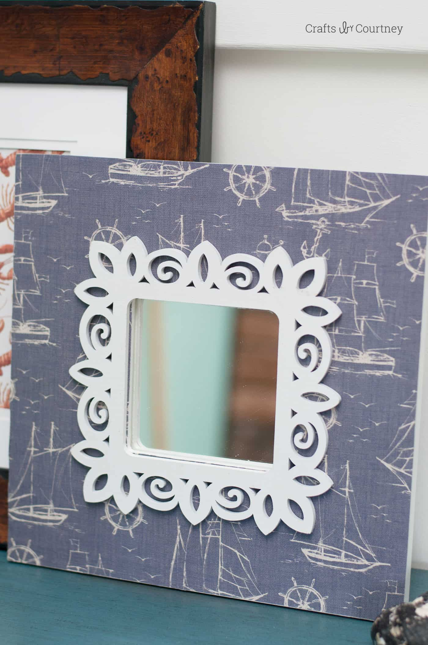 You can revamp a budget friendly IKEA frame using some basic craft supplies. It will look like a whole new (expensive) frame when you are done. So easy!