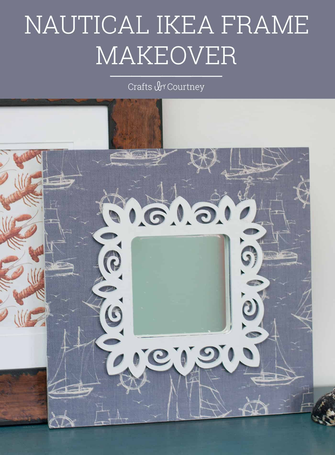 Decorate an IKEA Wall Mirror in Four Steps