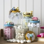 Lace mason jar gifts for party or wedding