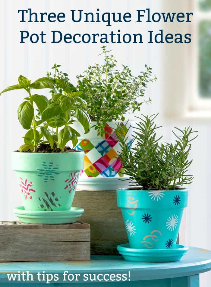 Are You Looking For A Fun Way To Decorate Terra Cotta Pots For Your Herb  Garden