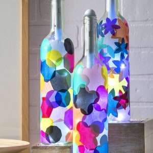 Wine bottle crafts: light my bottles!