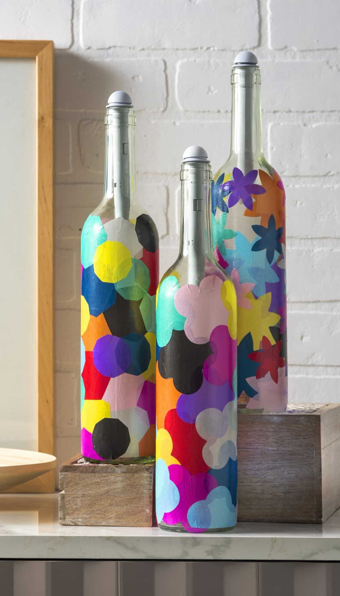 wine bottle crafts wine bottle crafts light my bottles mod podge rocks 3231