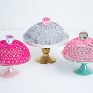 Doily covers for dessert plates with Sti...