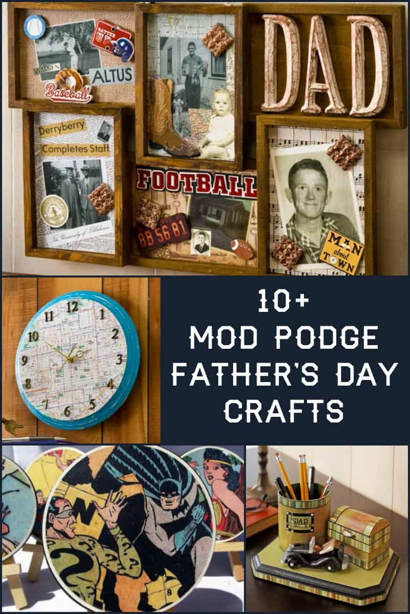 Bust out your Mod Podge bottle and make something cool for dad with this collection of over ten decoupage Father's Day crafts!