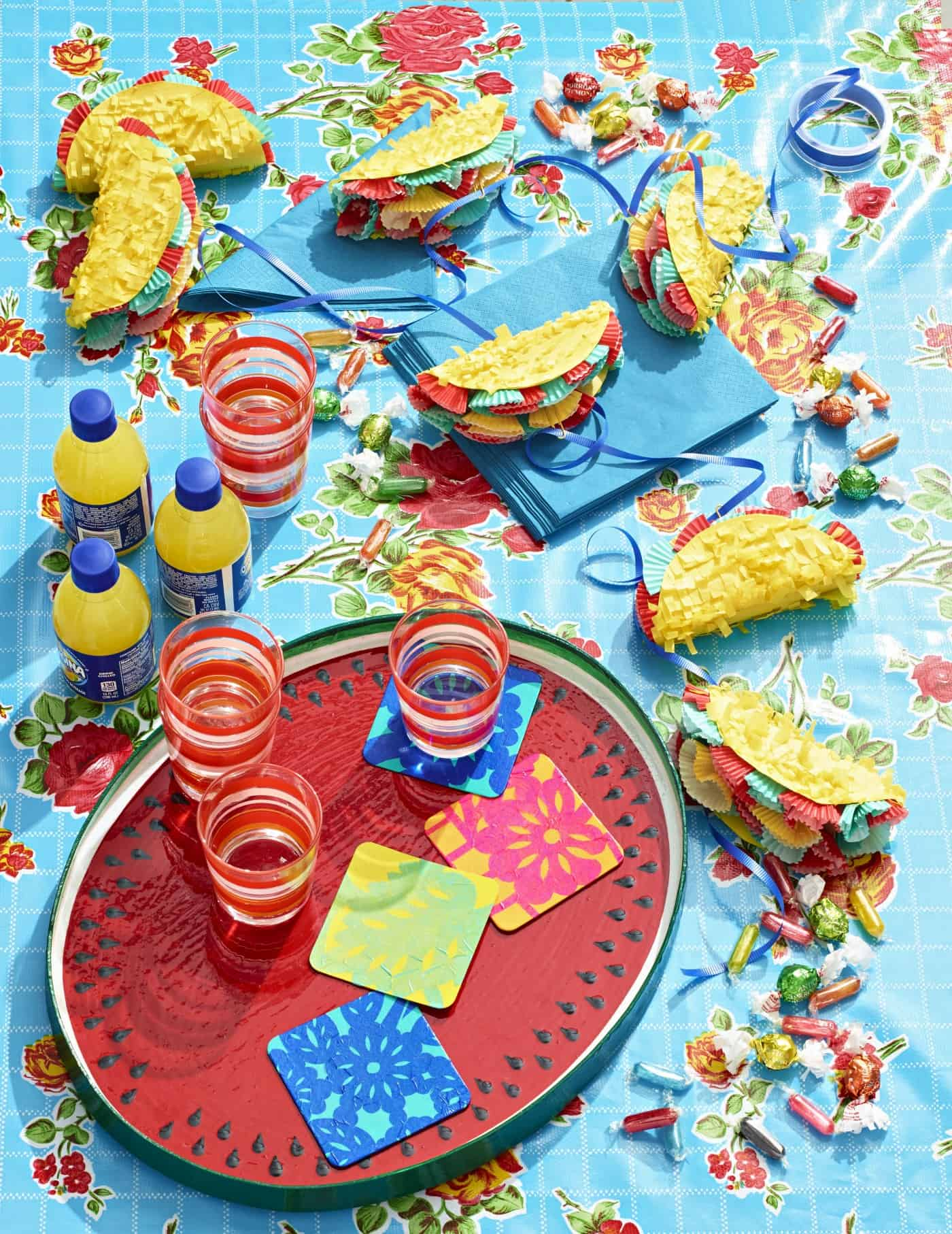 Cute Cinco de Mayo Crafts: Coasters and Garland