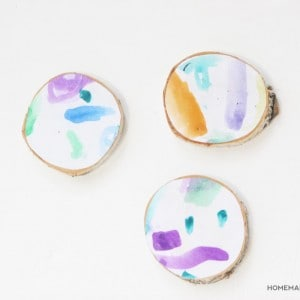 Kids Art Coasters