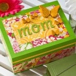 Decorate this DIY jewelry box with your favorite papers and Mod Podge; it makes the perfect mothers day craft for the mom who has everything!
