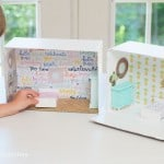 Don't spend big bucks on a dollhouse - this DIY dollhouse project will show you how to make an awesome version from a cardboard box!
