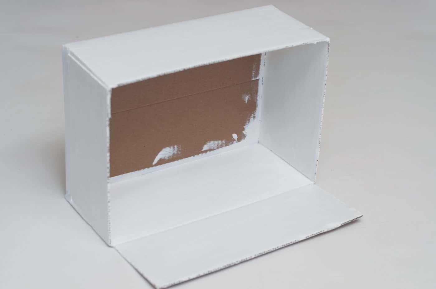 Cardboard Box Dollhouse Craft
