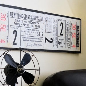 Easy DIY Father's Day wall decor