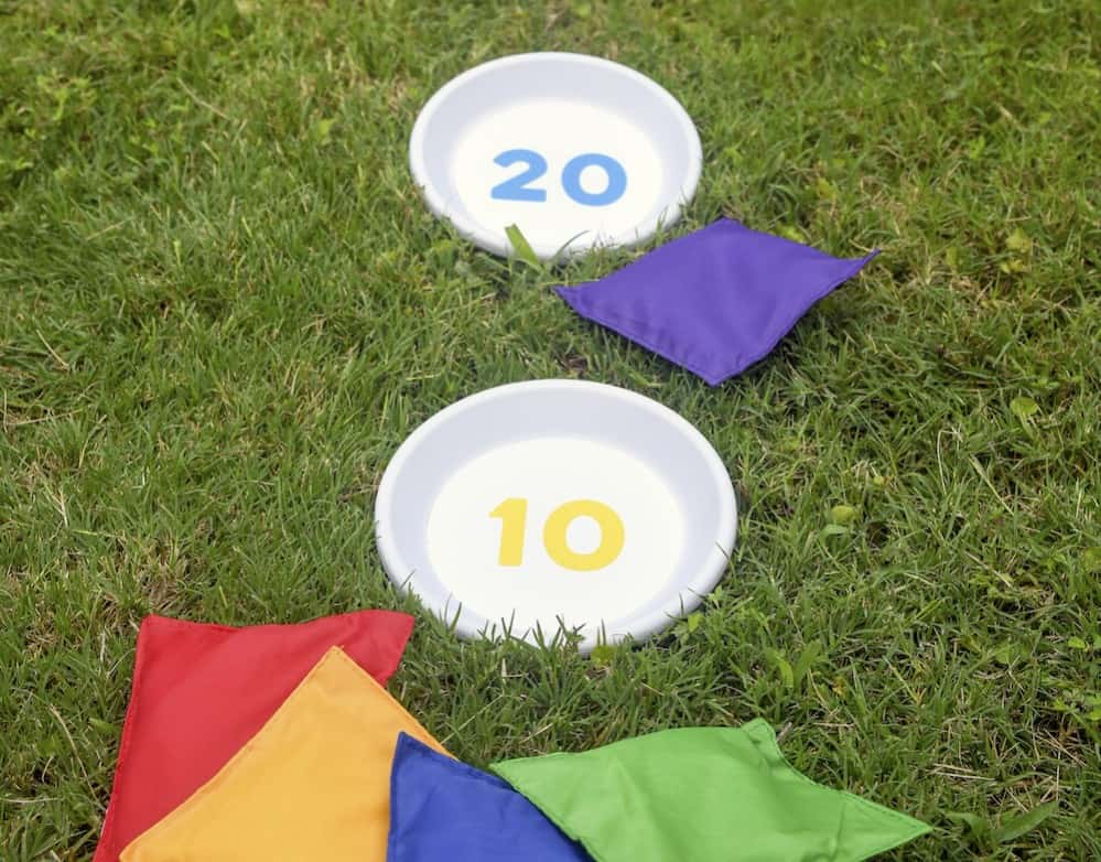 How to make a bean bag toss game