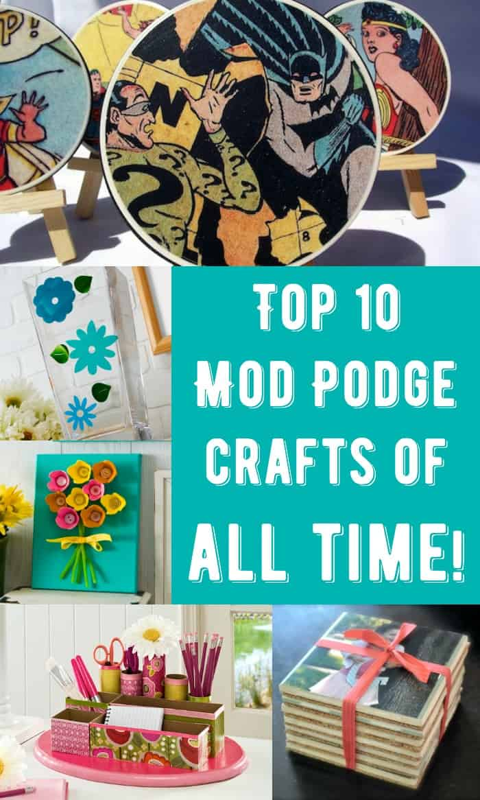 These are the top 10 Mod Podge crafts on Mod Podge Rocks, a blog all about decoupage - the most popular according to page views for the last eight years!