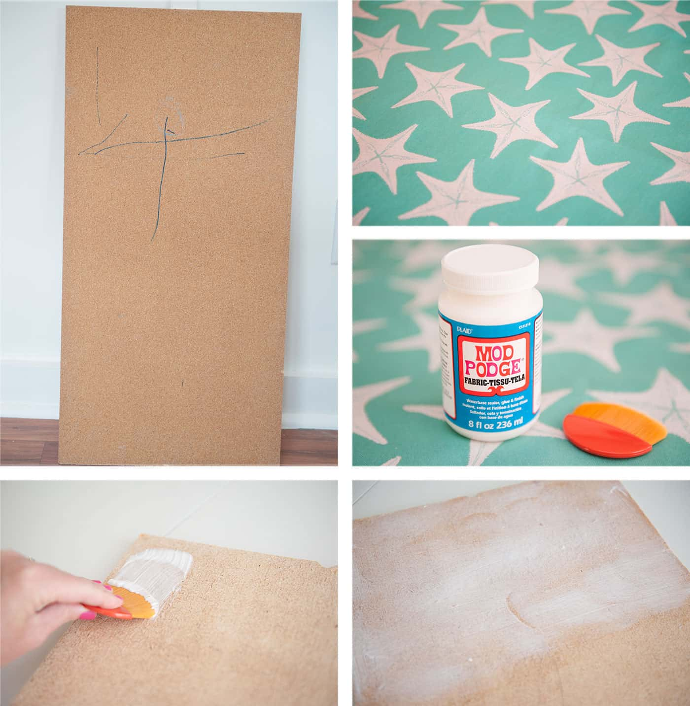 Covering Corkboard with Fabric