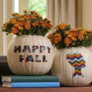Funkin faux pumpkin fall vases