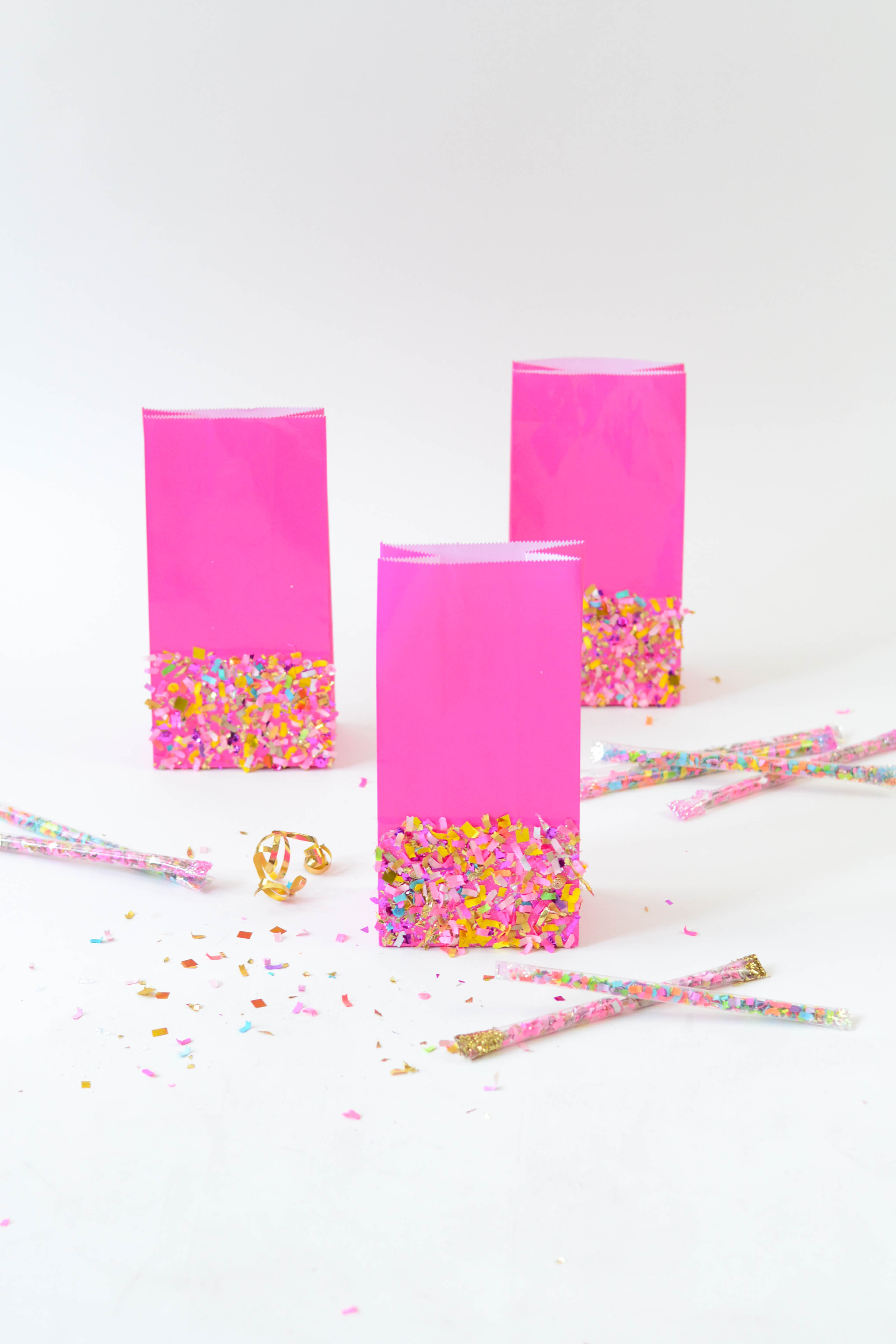 DIY Confetti Dipped Goodie Bags