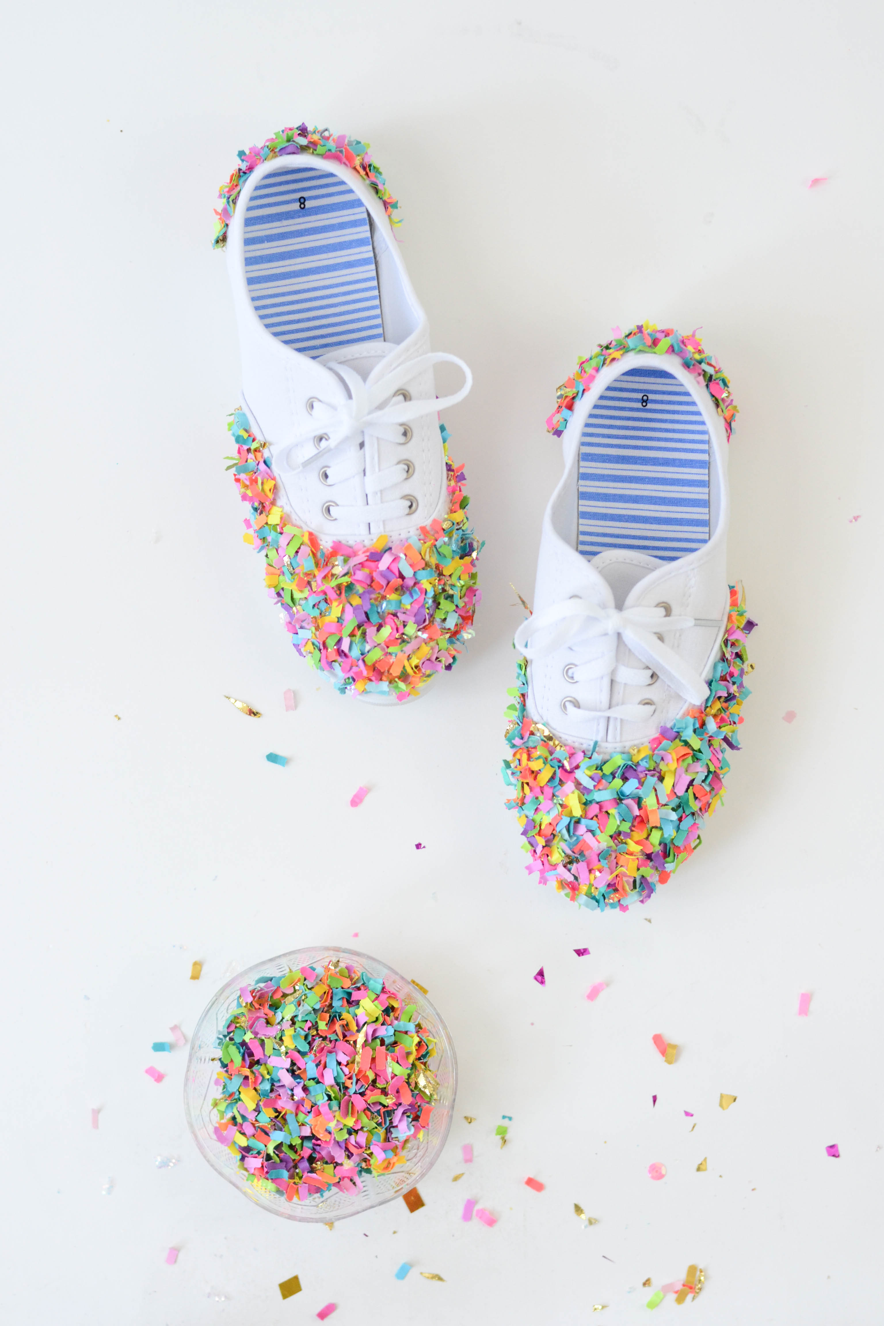 DIY Confetti Dipped Shoes