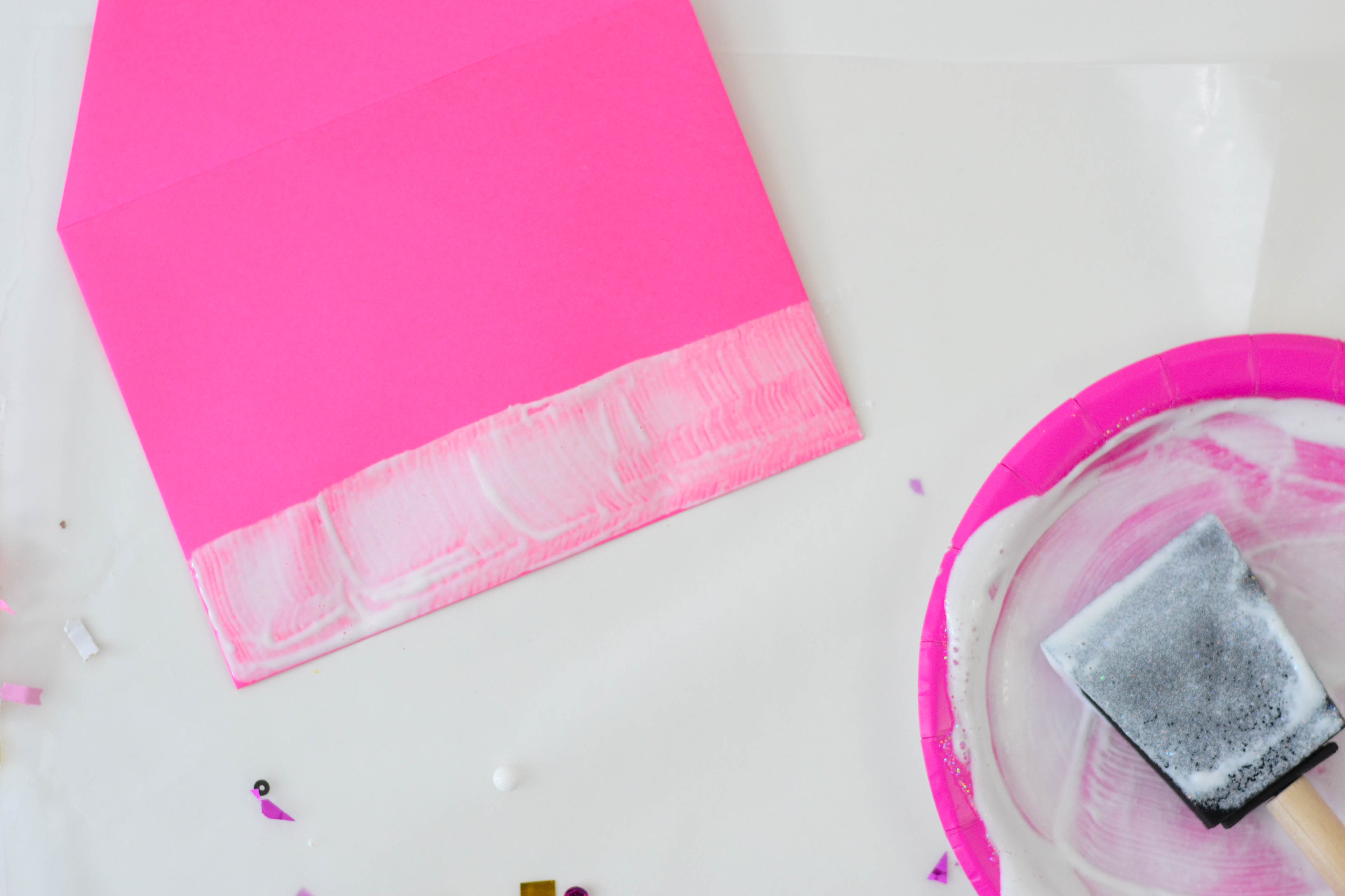 DIY Confetti Dipped Envelopes